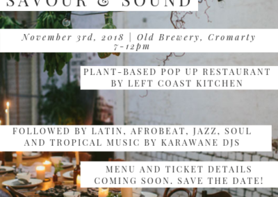 Savour & Sound at the Old Brewery Cromarty, November 3rd 2018