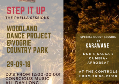 Guest DJ set on Step it Up soundystem at Woodland Dance Project, Vogrie, 29 September 2018