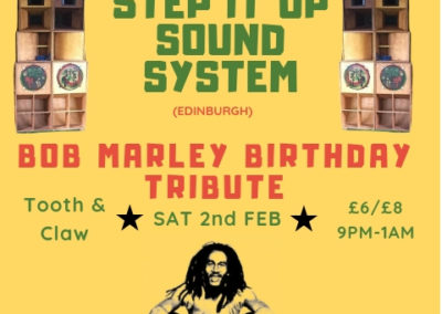 Karawane presents Step it Up soundsystem at Tooth and claw Feb 2nd